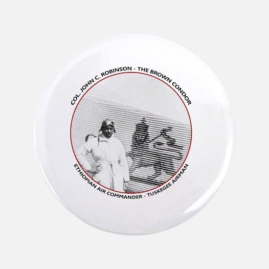 Brown Condor & Lion of Judah on Ethiopian A Button