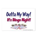 Outta My Way It's Bingo Night Postcards (Package o