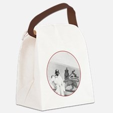 Brown Condor & Lion of Judah on E Canvas Lunch Bag