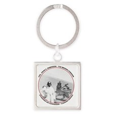 Brown Condor & Lion of Judah on Et Square Keychain