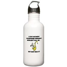 A Day Without Saxophone Water Bottle