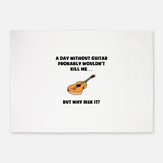 A Day Without Guitar 5'x7'Area Rug