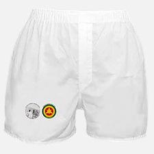 Brown Condor & Lion of Judah on Ethio Boxer Shorts