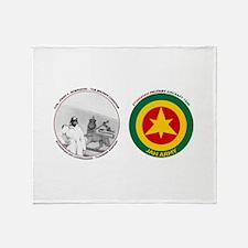 Brown Condor & Lion of Judah on Ethi Throw Blanket