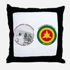 Brown Condor & Lion of Judah on Ethio Throw Pillow