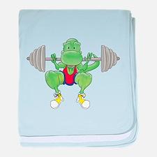 T-Rex Loves Leg Day! baby blanket