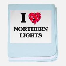 I Love Northern Lights baby blanket
