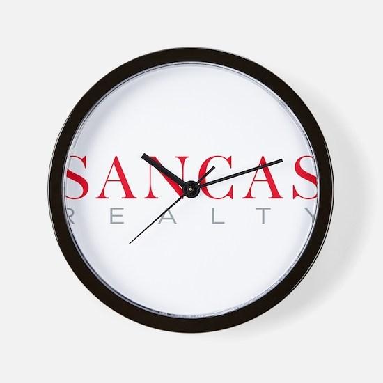 SANCAS Realty Logo Preferred Wall Clock