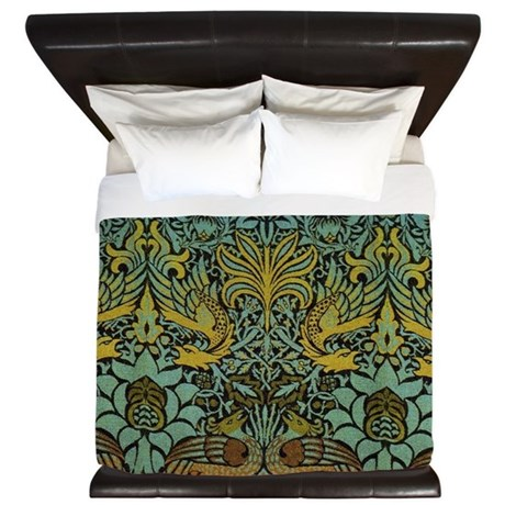 Peacock And Dragon William Morris Tapestry Design By Doodlefly