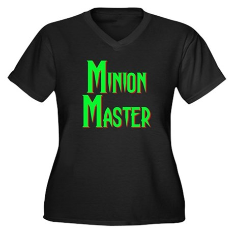 Minion Master Women's Plus Size V-Neck Dark T-Shir
