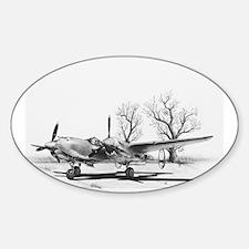 P-38 J Lightning Oval Decal