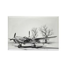 P-38 J Lightning Rectangle Magnet