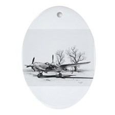 P-38 J Lightning Oval Ornament