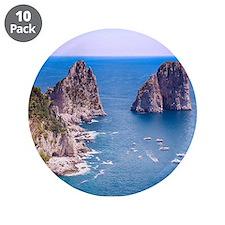 """Capri Faraglioni Rocks 3.5"""" Button (10 pack)"""