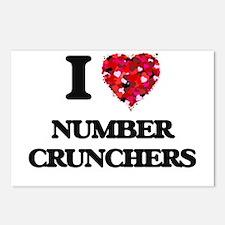 I Love Number Crunchers Postcards (Package of 8)