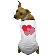 Three Hearts Dog T-Shirt