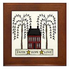 Faith,Hope,Love Framed Tile