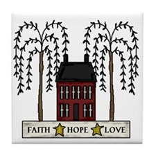 Faith,Hope,Love Tile Coaster