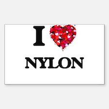 I Love Nylon Decal