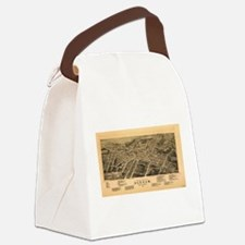 Vintage Pictorial Map of Durham N Canvas Lunch Bag