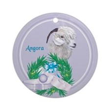 Angora Goat Angelface Tropical Holiday Ornament
