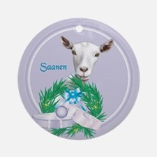 Saanen Goat Tropical Holiday Ornament (Round)