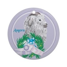 Angora Goat Gruf Tropical Holiday Ornament (Round)