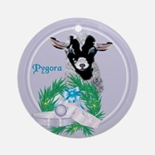 Pygora Goat Gina Tropical Holiday Ornament (Round)