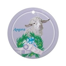 Angora Goat Sabrina Tropical Holiday Ornament