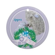 Angora Goat Mishka Tropical Holiday Ornament