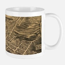 Vintage Pictorial Map of Durham NC (1891) Mugs