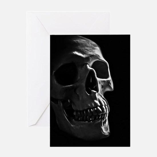 Human Skull Greeting Cards