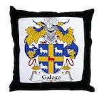 Galego Family Crest  Throw Pillow