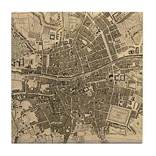 Vintage Map of Dublin Ireland (1797) Tile Coaster
