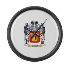 Grant Coat of Arms - Family Crest Large Wall Clock