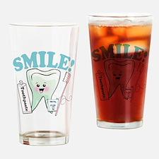 Smile Dentist Dental Hygiene Drinking Glass