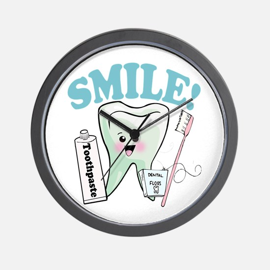 Smile Dentist Dental Hygiene Wall Clock
