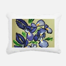 Iris Dance Art Painting Rectangular Canvas Pillow
