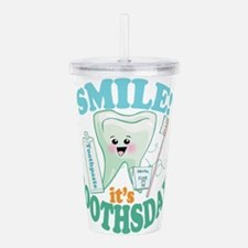 Smile Dentist Dental H Acrylic Double-wall Tumbler