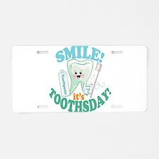 Smile Dentist Dental Hygien Aluminum License Plate