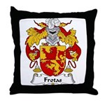 Frotas Family Crest  Throw Pillow