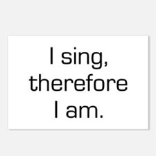 I Sing Therefore I Am Postcards (Package of 8)