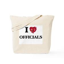 I Love Officials Tote Bag