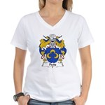 Frois Family Crest Women's V-Neck T-Shirt