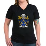 Frois Family Crest Women's V-Neck Dark T-Shirt