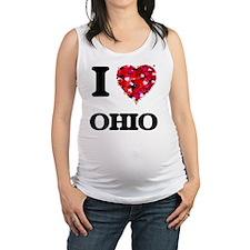I Love Ohio Maternity Tank Top