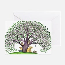Laurel Stray Cats and Dog Greeting Card