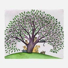 Laurel Stray Cats and Dog Throw Blanket