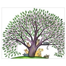 Laurel Stray Cats and Dog Canvas Art