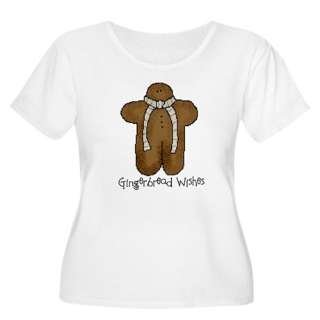 Gingerbread Wishes Women's Plus Size Scoop Neck T-